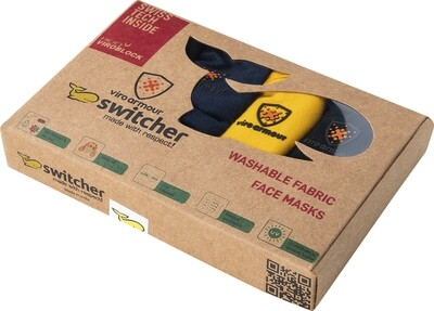 Hygiene protection masks Switcher - Viroarmour HeiQ Viroblock® Box