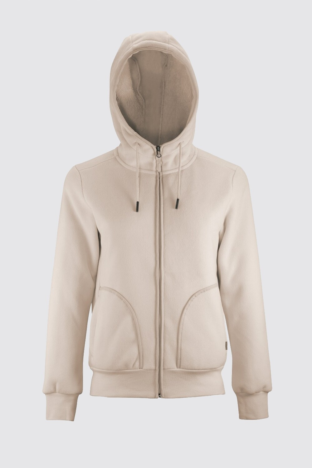 Switcher women hooded sweater jacket Altai with fur