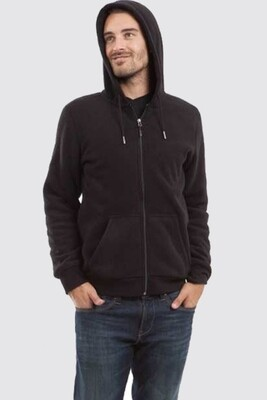 Switcher hooded sweater jacket Ivo with fur