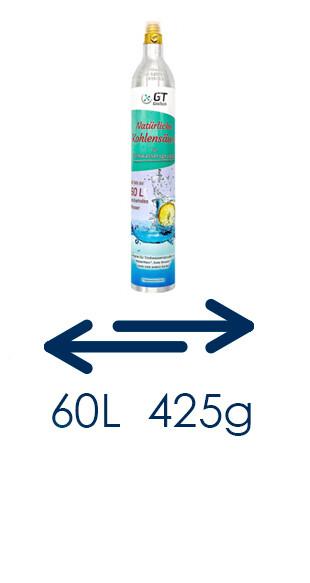 Замяна на 425 гр. СО2 бутилки, тип  Сода Стрийм-пълно за празно
