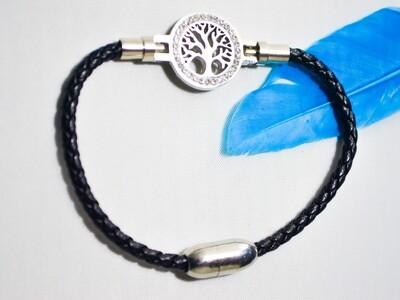 Leder-Armband mit Baum des Lebens