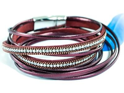 Armband bordeauxrot