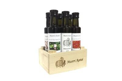Box 6 aceti in cassettina di legno