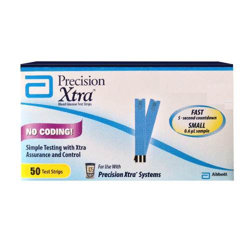 Precision Xtra Glucose Test Strips (50 count)