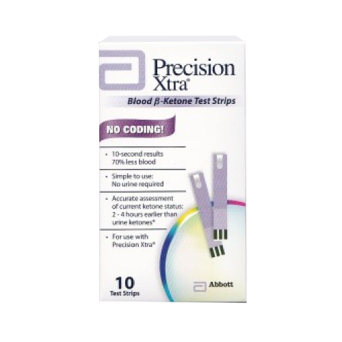 Precision Xtra Blood Ketone Test Strips (10 count)