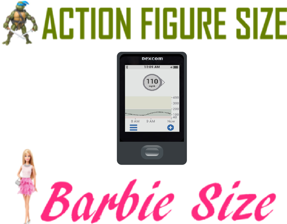 Toy Dexcom G6 Receiver and Transmitter (NEW) - Barbie/Action Figure Size