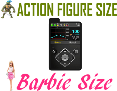 Toy Insulin Pump - Looks Like Medtronic (NEW) - Barbie/Action Figure Size