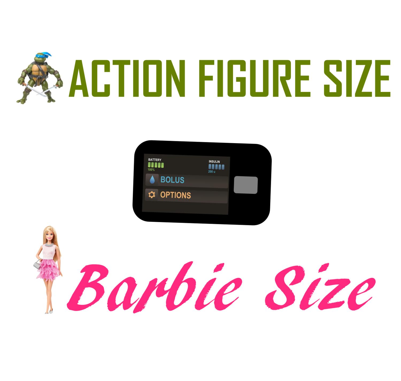 Toy Insulin Pump - Looks Like TSlim - Barbie/Action Figure Size