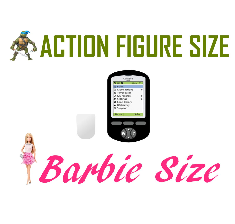 Toy Insulin Pump - Looks Like OmniPod - Barbie/Action Figure Size