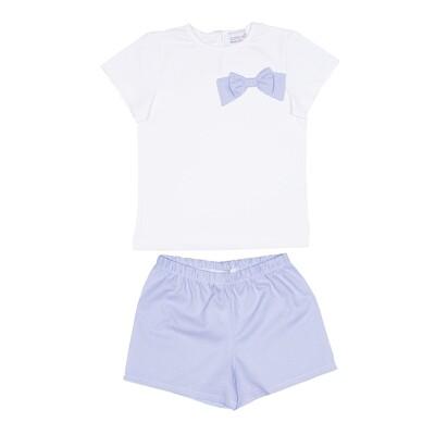 Pyjama Rosalie lichtblauw ruitje