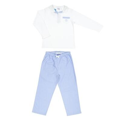 Maxime long lichtblauw uni
