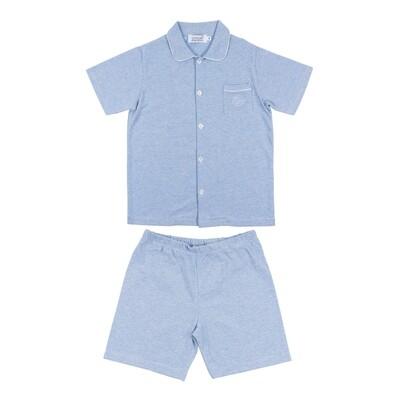 Pyjama Charlie short blauw streepje