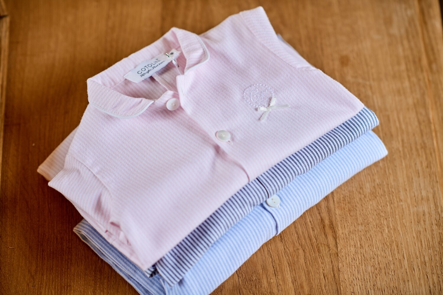 BB Flanelle rayure rose
