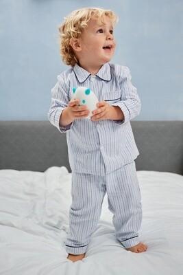 Mathieu W streepje blauw-wit-grijs