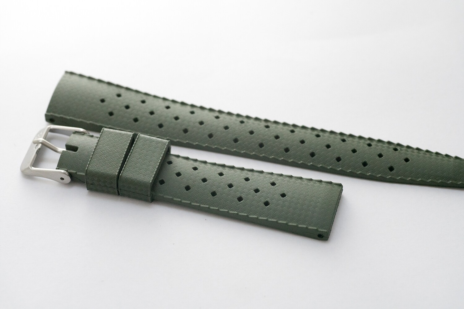 Borealis Vulcanized Tropic Style Strap 20mm Boavista Green - Best Offer in Market for Diver Watches