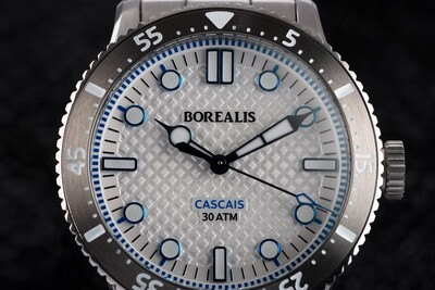 Borealis Cascais V2 Version BC White Portuguese Cobblestone Dial Cathedral Hands No Date
