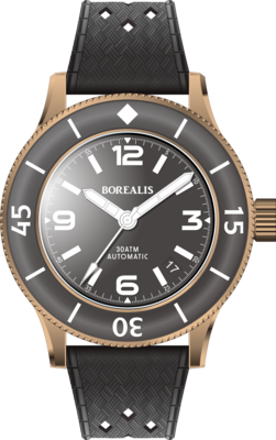 Borealis Sea Storm V2 Black Dial Version BA.A3 NH35 Date BGW9 Lume CuSn8 Bronze