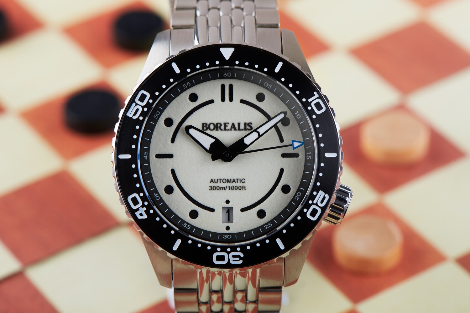 Pre-Order Borealis Neptuno Lumed White Dial Date NH35 Automatic Movement 300m Diver Watch