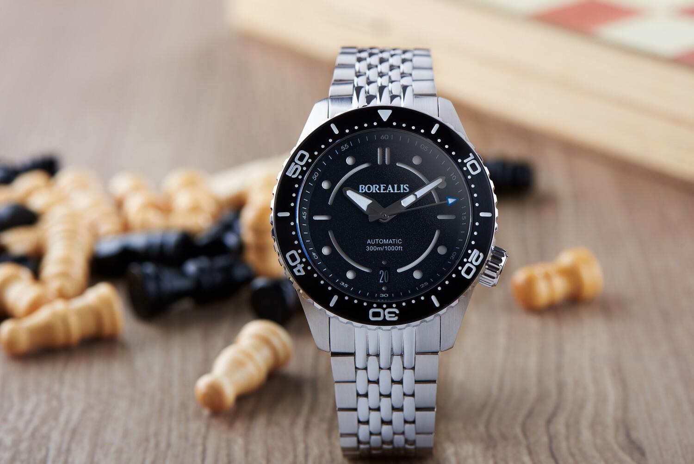 Pre-Order Borealis Neptuno Black Dial Date NH35 Automatic Movement 300m Diver Watch