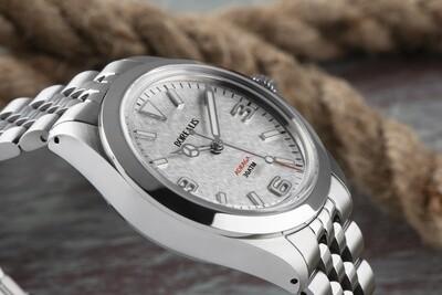 Borealis Adraga Stainless Steel Miyota 90S5 white snow flake dial Mercedes Hands No Date BGW9 lume