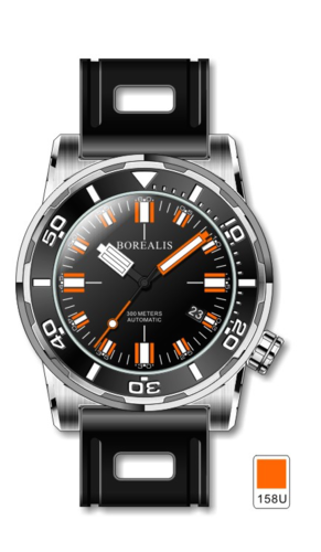Borealis Sea Dragon Black Dial Miyota 9015 Automatic Diver Watch 300m