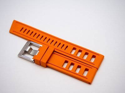 Borealis Vulcanized Rubber Strap 20mm Orange - Best Offer in Market for Diver Watches