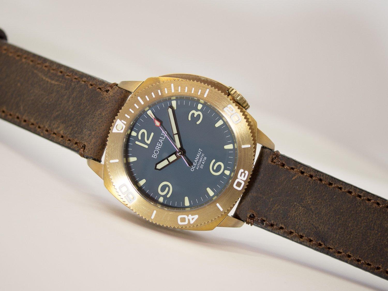 Borealis Oceanaut Aluminum Bronze Teal Blue No Date 200m NH35 Automatic Diver Watch