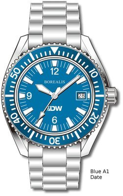 Pre-Order Borealis Estoril 300 for Diver's Watches Facebook Group Blue Dial Arabic Numbers Date Blue A1 Date