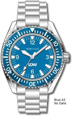 Pre-Order Borealis Estoril 300 for Diver's Watches Facebook Group Blue Dial Arabic Numbers No Date Blue A2 No Date