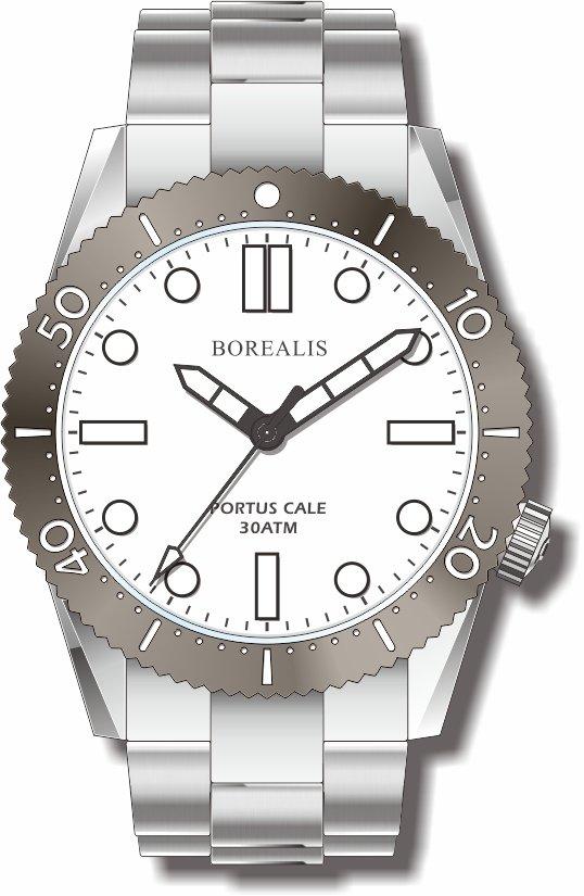 Pre-Order Borealis Portus Cale White Version A1 Dial SLWL No Date