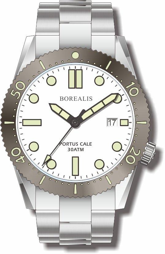 Pre-Order Borealis Portus Cale White Version B Dial C3X1 Date