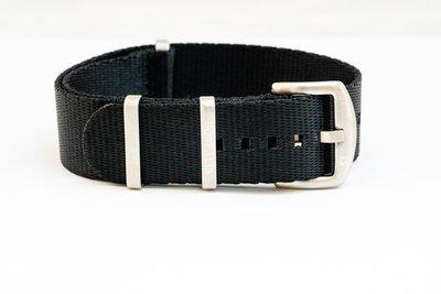 Borealis premium Nato style seatbelt 1.4mm nylon weave strap 20mm size black