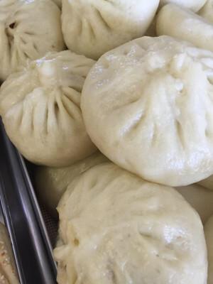 【鲁香村】Steamed Chinese Leek Vegi Buns 韭菜素包(6pcs/袋) (Closed Tuesday)