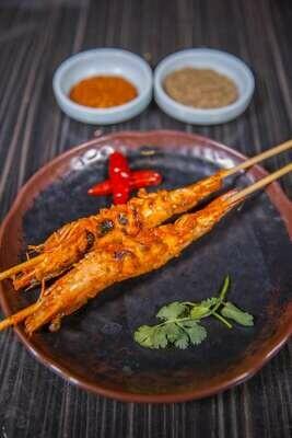 【新疆烧烤】Jumbo Shrimp Skewer w/ Special Chili Sauce 秘制酱烤大虾(Closed Tuesday)