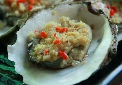 【新疆烧烤】Half Shell Oyster w/Garlic Sauce Thai Chili s 烤生蚝(Closed Tuesday)