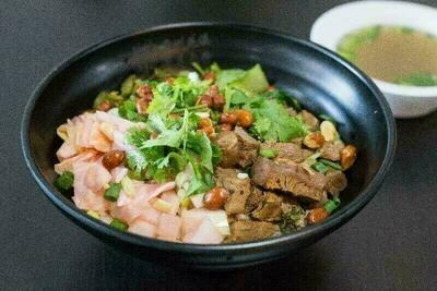 【花溪王】Cold Mix Vermicelli Noodle Beef 牛肉卤粉(干拌)