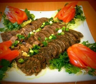 【精武鸭脖】 Beef Tendon(1/2 lb) 牛腱半磅 (Closed Monday)