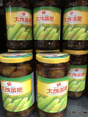 【RBG】大茂菜心 385g 台湾风味酱菜 酱渍莴笋罐头
