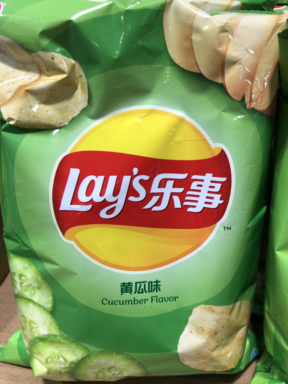 【RBG】lay's Potato Chips (Cucumber Flavor) 乐事 薯片 清新黄瓜味 70g