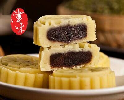 【津味】Mung Bean Mooncake With Sweet Red Bean Paste 红豆馅绿豆糕 4pc