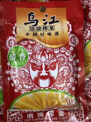 【RBF】WJ Preserves Mustard Tuber Light Flavor 80g 乌江陪陵榨菜 清香