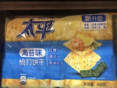 【RBG】Pacific Calcium Cracker 太平 梳打饼干 海苔味 低糖清淡易消化 400g
