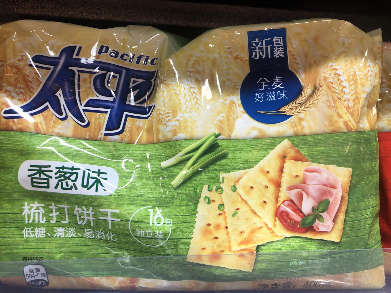 【RBG】Pacific Calcium Cracker 太平 梳打饼干 香葱味 低糖清淡易消化 400g