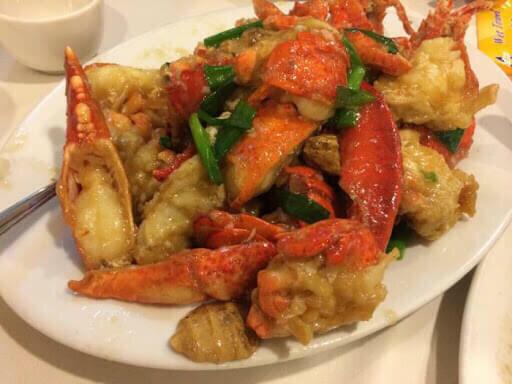 【竹苑】Sauteed Lobster with Ginger and Scallion 葱姜龙虾 双龙虾  (Closed Monday& Tuesday)