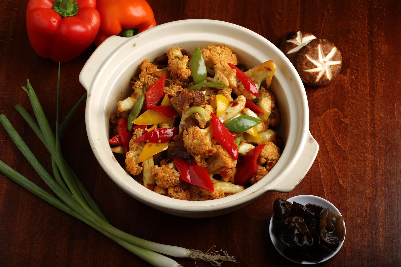 【竹苑】Fried Organi Chinese Cauliflower 干锅有机花菜   (Closed Monday& Tuesday)
