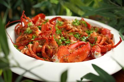 【竹苑】Garlic vermicelli Lobster 蒜蓉粉丝龙虾  双龙虾(仅周四周五)