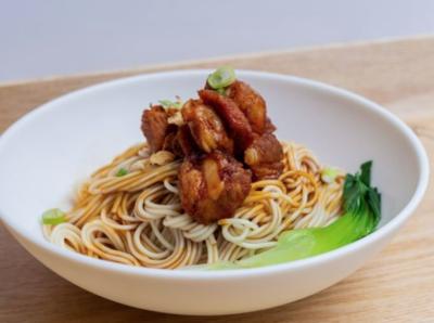 【包十一】Braised Pork Gristle Noodle W. Scallion Oil 红烧猪软骨葱油面 (Closed Tuesday)