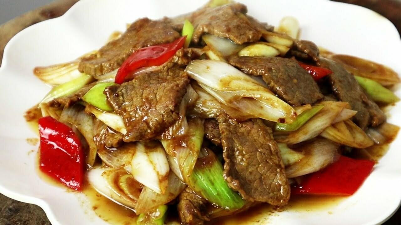 【小沈阳】Beef W. Scallion 葱爆牛肉