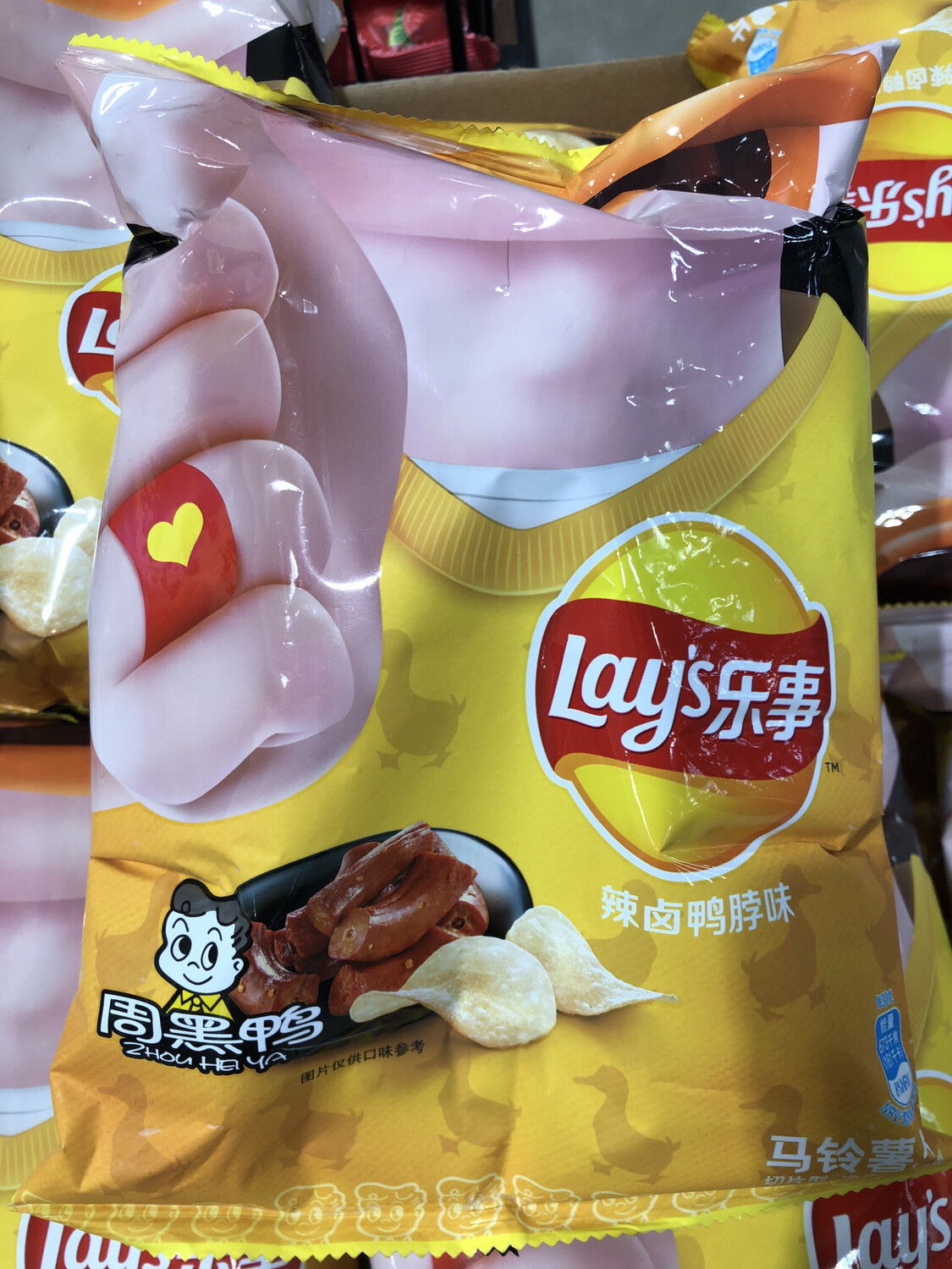 【RBG】Lay's Potato Chips (Spicy Artificial Duck Neck Flavor) 乐事薯片 周黑鸭辣卤鸭脖口味