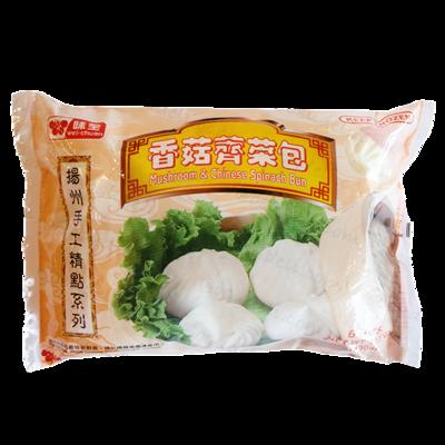【RF】Wei-Chuan Mushroom & Spinach Bun 味全扬州手工 香菇荠菜包~6PCS 300g